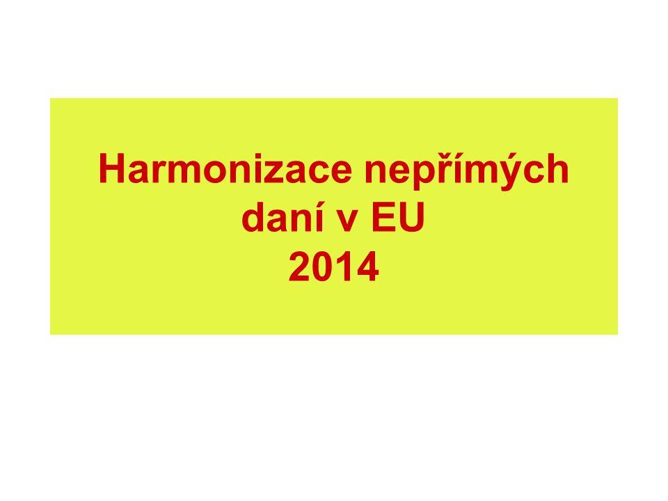 Harmonizace nepřímých daní v EU 2014