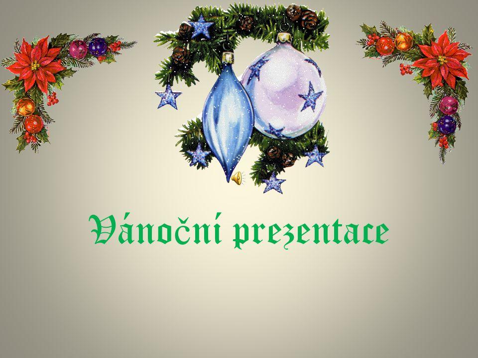 Váno č ní prezentace
