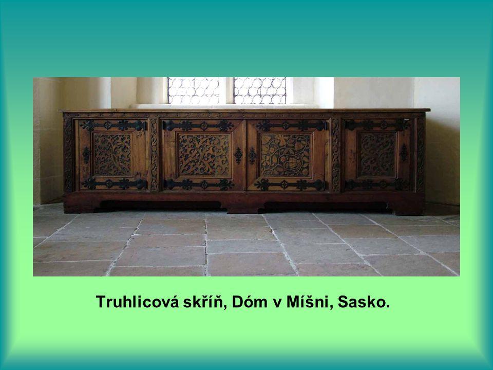 Truhlicová skříň, Dóm v Míšni, Sasko.