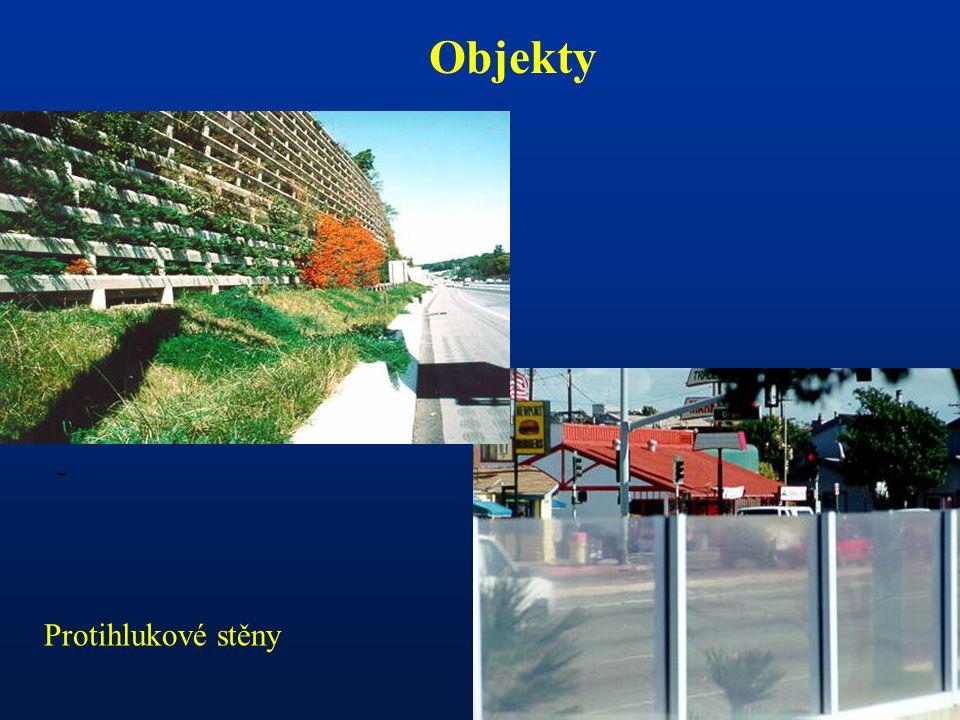 - Objekty Protihlukové stěny