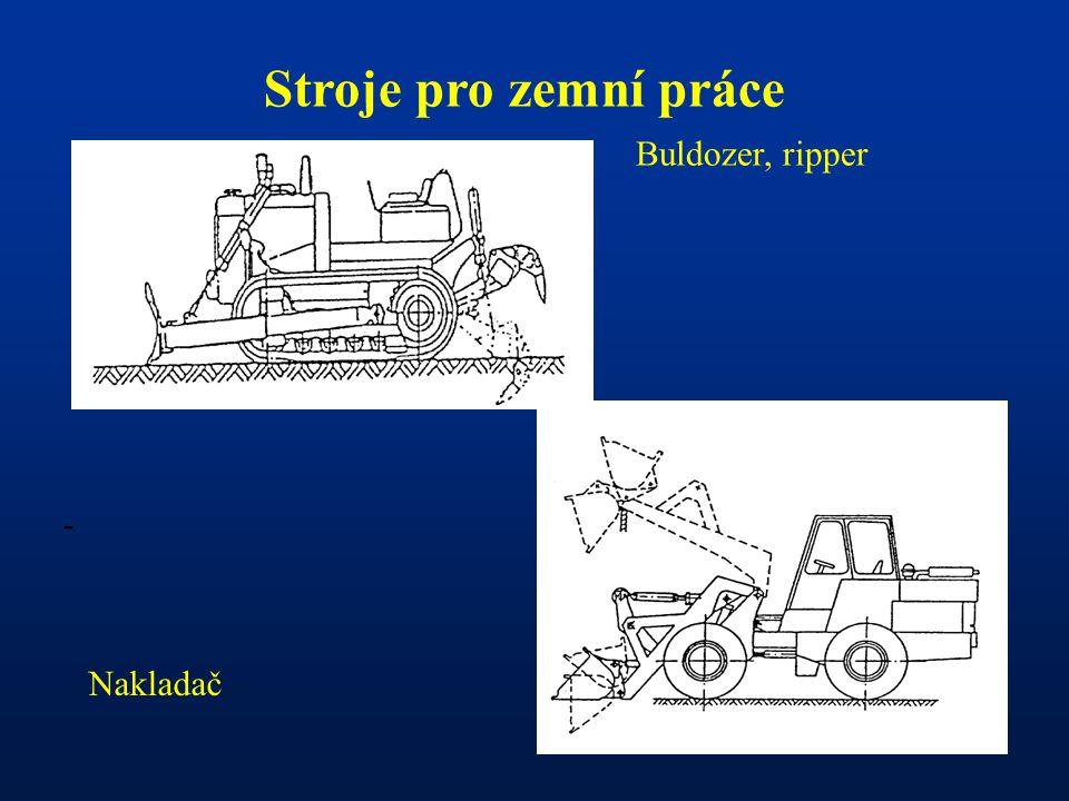 - Stroje pro zemní práce Buldozer, ripper Nakladač