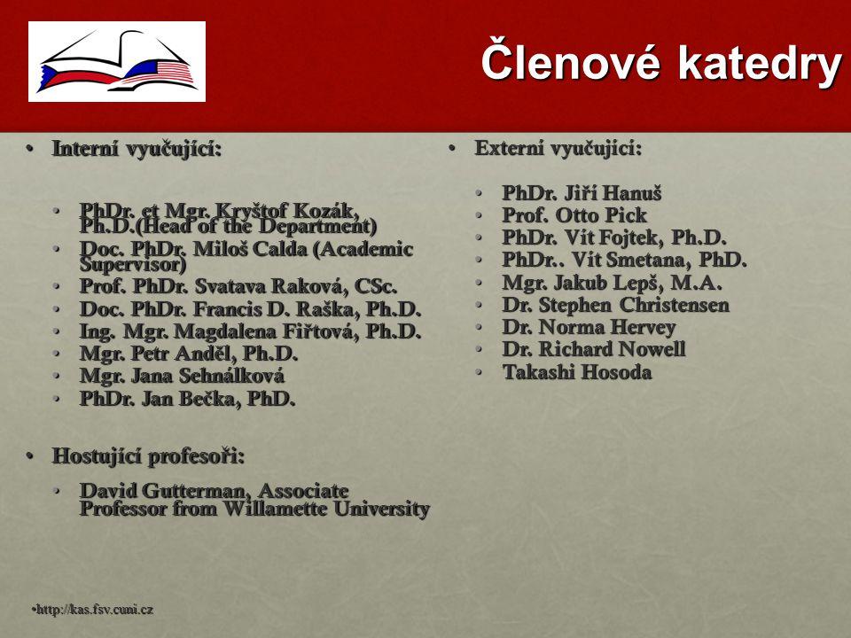 Členové katedry Interní vyu č ující: Interní vyu č ující: PhDr.