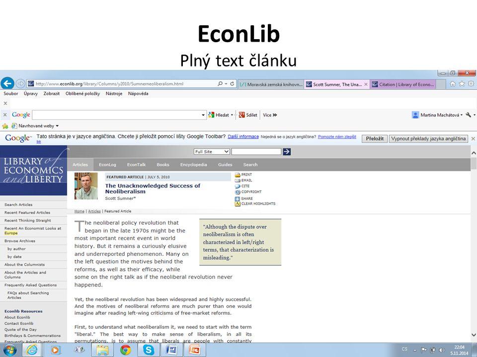 EconLib Plný text článku