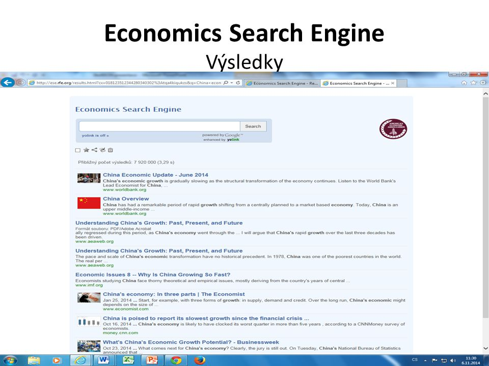 Economics Search Engine Výsledky