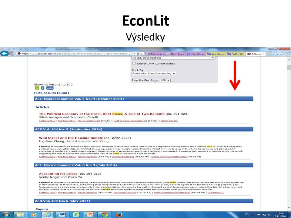 Economics Search Engine Výsledky