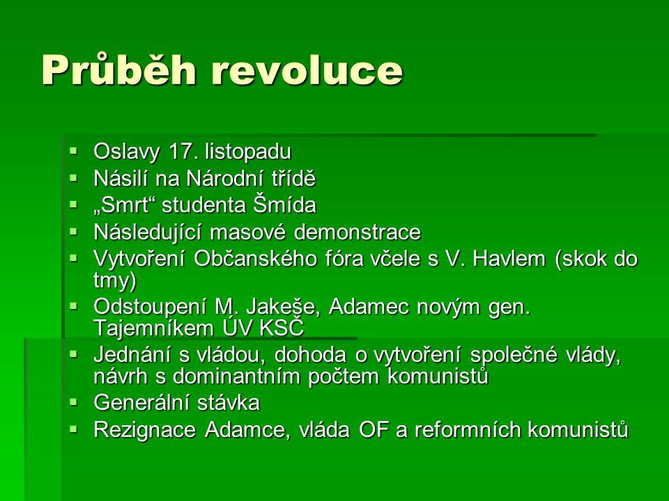 Průběh revoluce  Oslavy 17.
