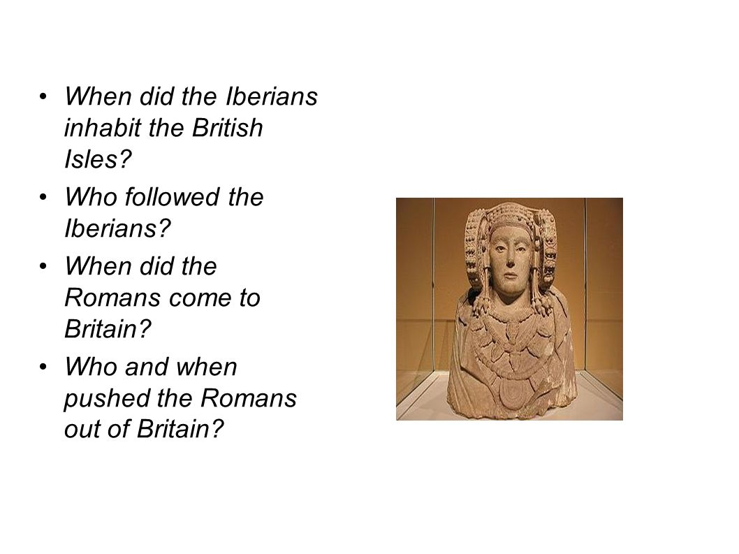When did the Iberians inhabit the British Isles. Who followed the Iberians.