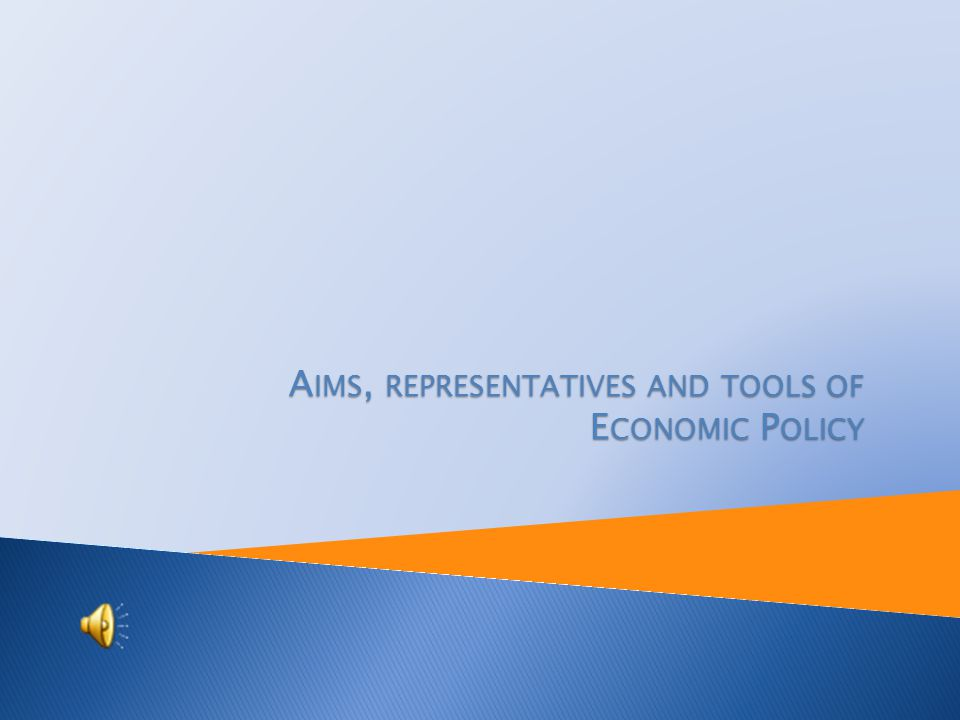 Teaching programme: Economic lyceum Topic: Economic State Policy Prepared by: Ing.