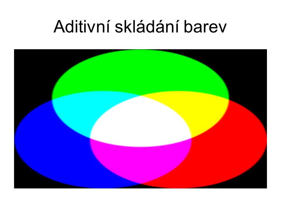 RGB – 256 barev 8 x 8 x 4 stupně