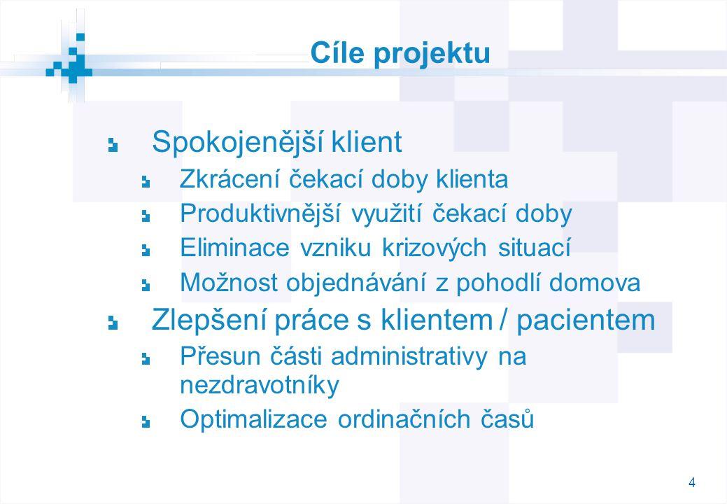 5 Specifika projektu Komplexní systém hlavní prvek – občan jako klient systému zdravotní péče hlavní smysl – nezatěžovat klienta zbytečným čekáním na zdravotní péči