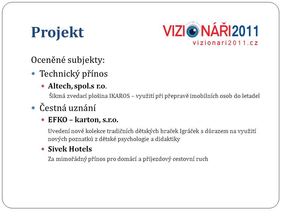 Projekt Oceněné subjekty: Technický přínos Altech, spol.s r.o.