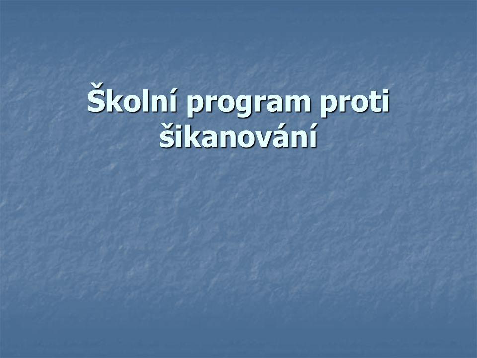 Školní program proti šikanování