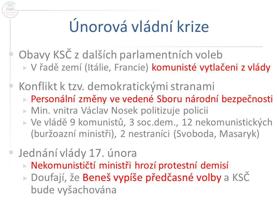 Jan Masaryk, ministr zahraničí, 10.3.