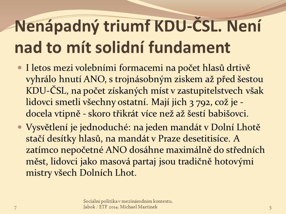Nenápadný triumf KDU-ČSL. Není nad to mít solidní fundament I letos mezi volebními formacemi na počet hlasů drtivě vyhrálo hnutí ANO, s trojnásobným z