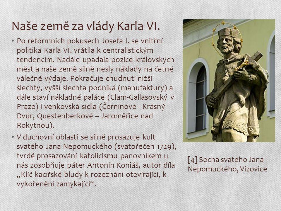 [5] Clam-Gallasův palác v Praze na Starém Městě [6] Zámek v Jaroměřicích nad Rokytnou