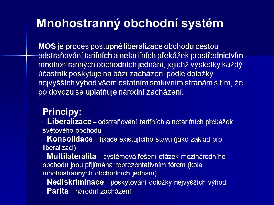 Mnohostranný obchodní systém MOS je proces postupné liberalizace obchodu cestou odstraňování tarifních a netarifních překážek prostřednictvím mnohostr