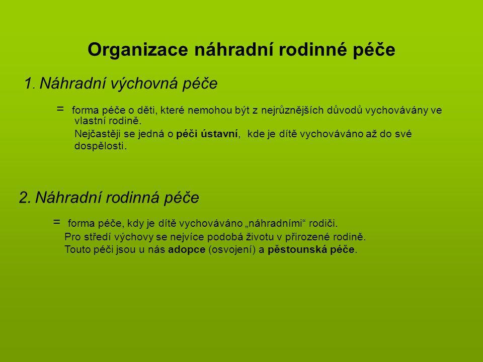 Organizace náhradní rodinné péče 1.