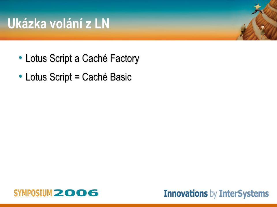 Ukázka volání z LN Java Java –JDBC –DOM