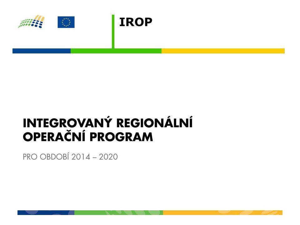 """INTEGROVANÝ REGIONÁLNÍ OPERAČNÍ PROGRAM Globální cíl IROP """"Zajistit vyvážený rozvoj území, zlepšit veřejné služby a veřejnou správu pro zvýšení konkurenceschopnosti a zajištění udržitelného rozvoje v obcích, městech a regionech. Prioritní osy 1.Konkurenceschopné, dostupné a bezpečné regiony 2.Zkvalitnění veřejných služeb a podmínek života pro obyvatele regionů 3.Dobrá správa území a zefektivnění veřejných institucí 4.Komunitně vedený místní rozvoj"""