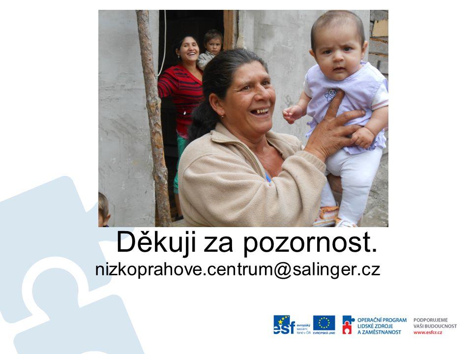 Děkuji za pozornost. nizkoprahove.centrum@salinger.cz