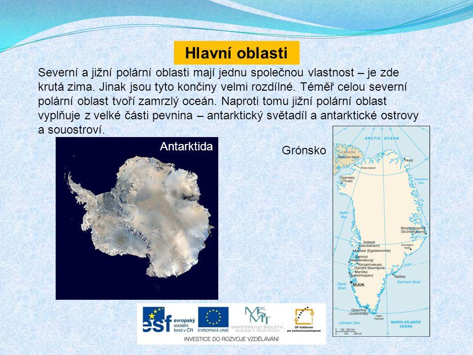Hlavní oblasti Severní a jižní polární oblasti mají jednu společnou vlastnost – je zde krutá zima.
