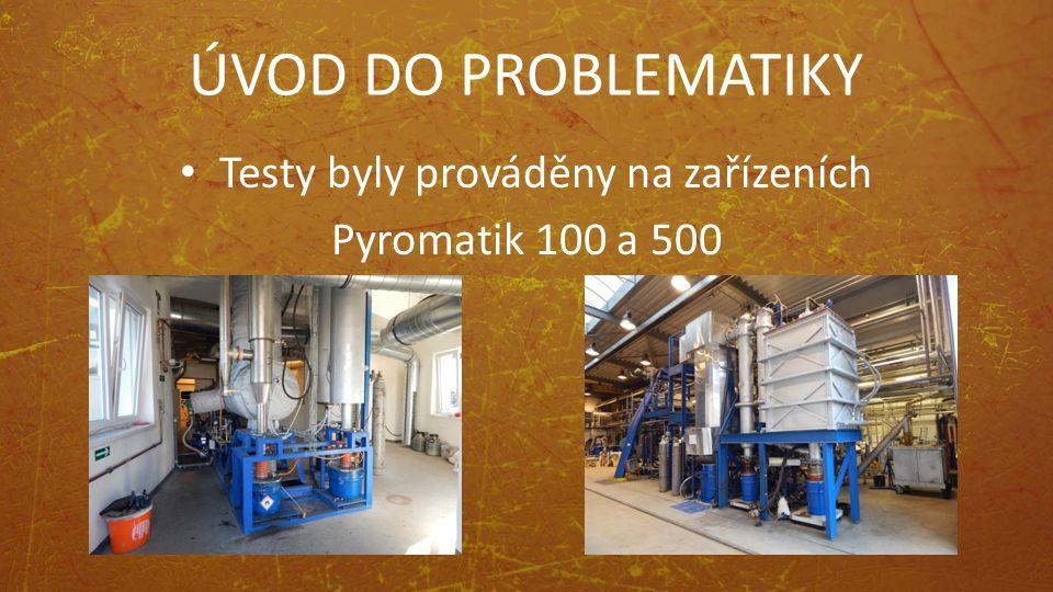 ÚVOD DO PROBLEMATIKY Testy byly prováděny na zařízeních Pyromatik 100 a 500