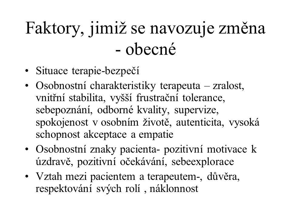 Doporučená literatura Základy psychoterapie-S.Kratochvíl Psychoterapeutické systémy-Prochaska, Norcross Hovory o psychoterapii-J.Hučín I.Yalom