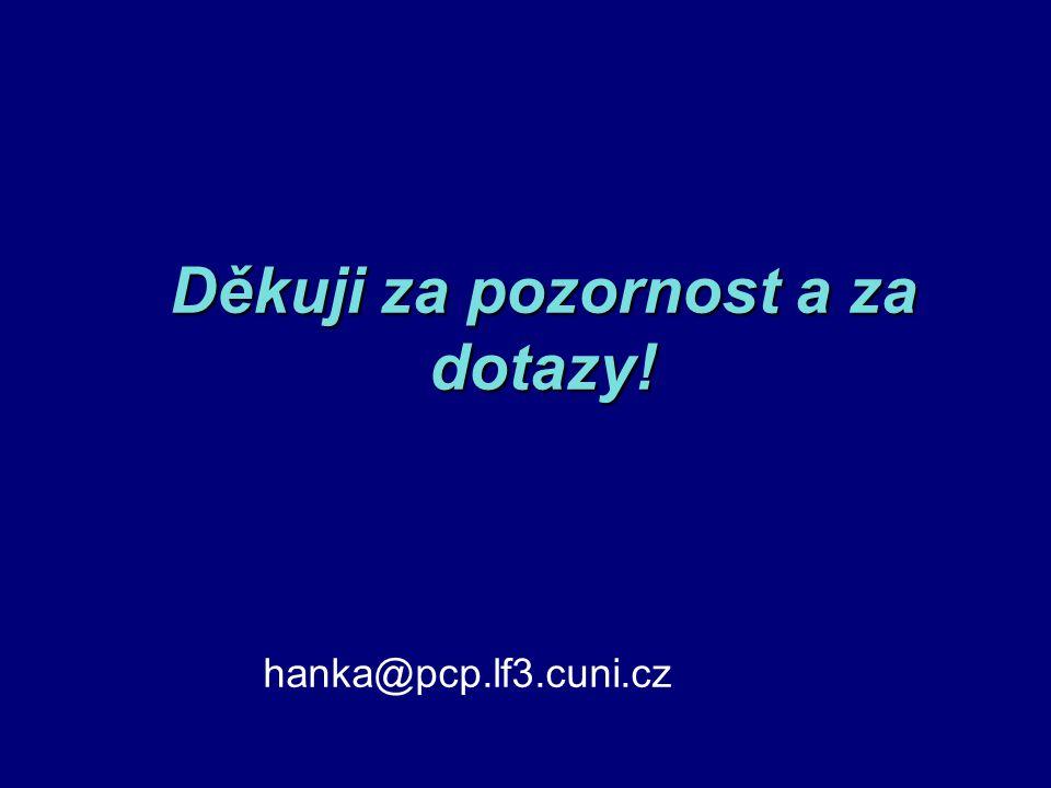 Děkuji za pozornost a za dotazy! hanka@pcp.lf3.cuni.cz