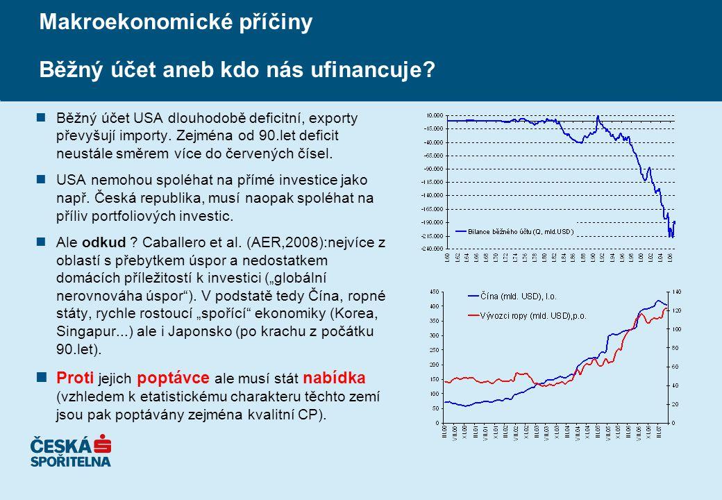 Makroekonomické příčiny Běžný účet aneb kdo nás ufinancuje.