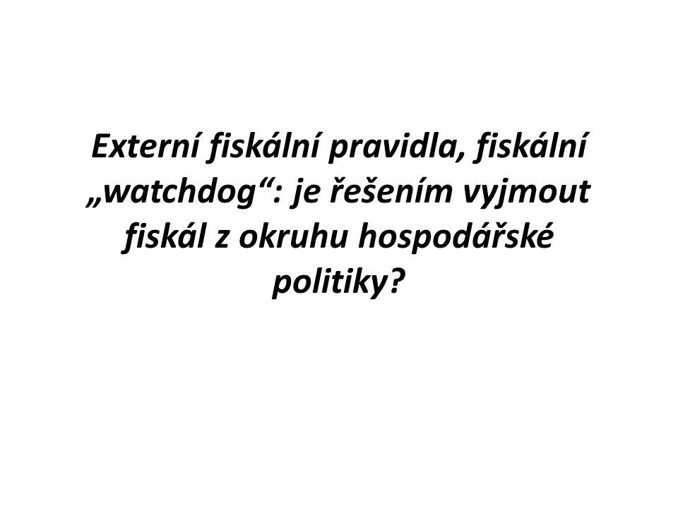 """Externí fiskální pravidla, fiskální """"watchdog"""": je řešením vyjmout fiskál z okruhu hospodářské politiky?"""