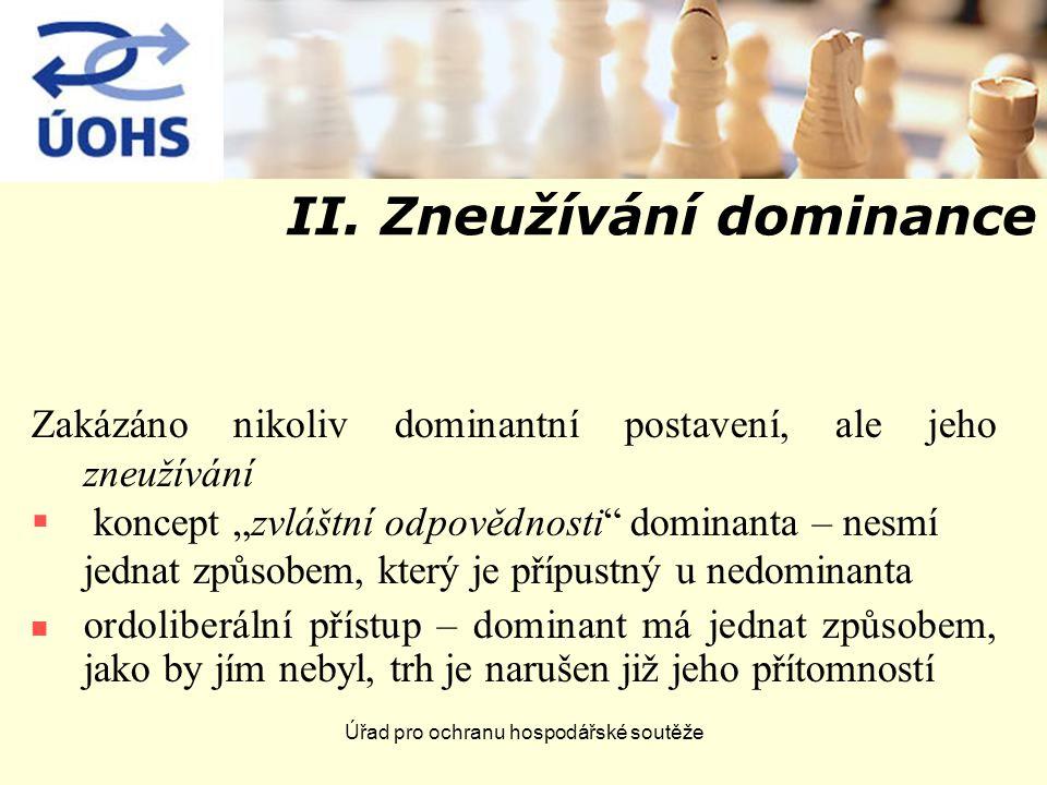 Úřad pro ochranu hospodářské soutěže II.