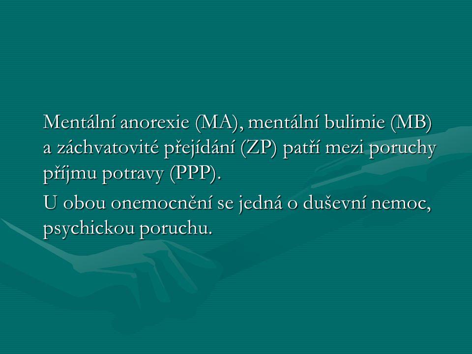 Následky MA Následky MA Nehojící se infekceNehojící se infekce OsteoporózaOsteoporóza Padání vlasů, špatná pleťPadání vlasů, špatná pleť Lámavost nehtůLámavost nehtů Selhávání ledvinSelhávání ledvin Poruchy spánkuPoruchy spánku Kazivost zubůKazivost zubů Vysoká pravděpodobnost neplodnostiVysoká pravděpodobnost neplodnosti Oslabená imunitaOslabená imunita Špatná termoregulaceŠpatná termoregulace Může skončit až smrtíMůže skončit až smrtí