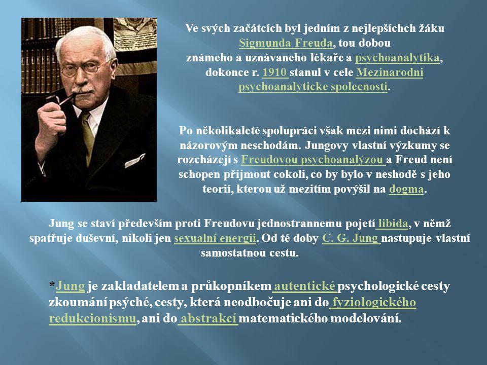 Ve svých začátcích byl jedním z nejlepšíchch žáku Sigmunda Freuda, tou dobou známeho a uznávaneho lékaře a psychoanalytika, dokonce r. 1910 stanul v c