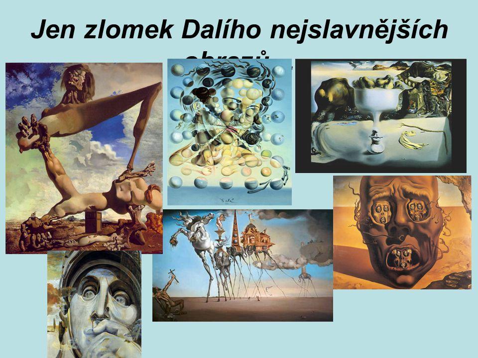 Jen zlomek Dalího nejslavnějších obrazů…
