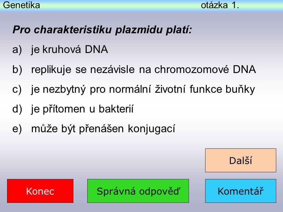 Genetika – komentář k otázce 5.