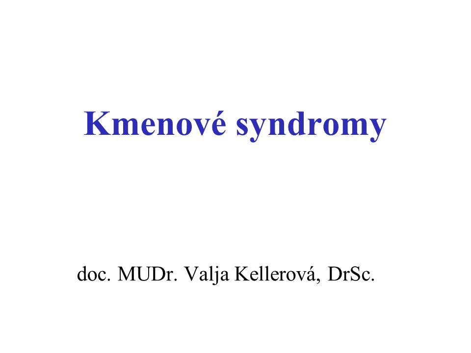 Kmenové syndromy doc. MUDr. Valja Kellerová, DrSc.