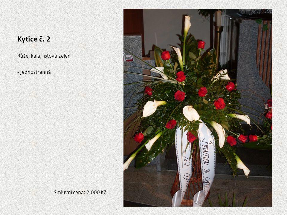Kytice č. 39 Lilie mix, růže, dendrobium, listová zeleň -jednostranná Smluvní cena: 1.500 Kč