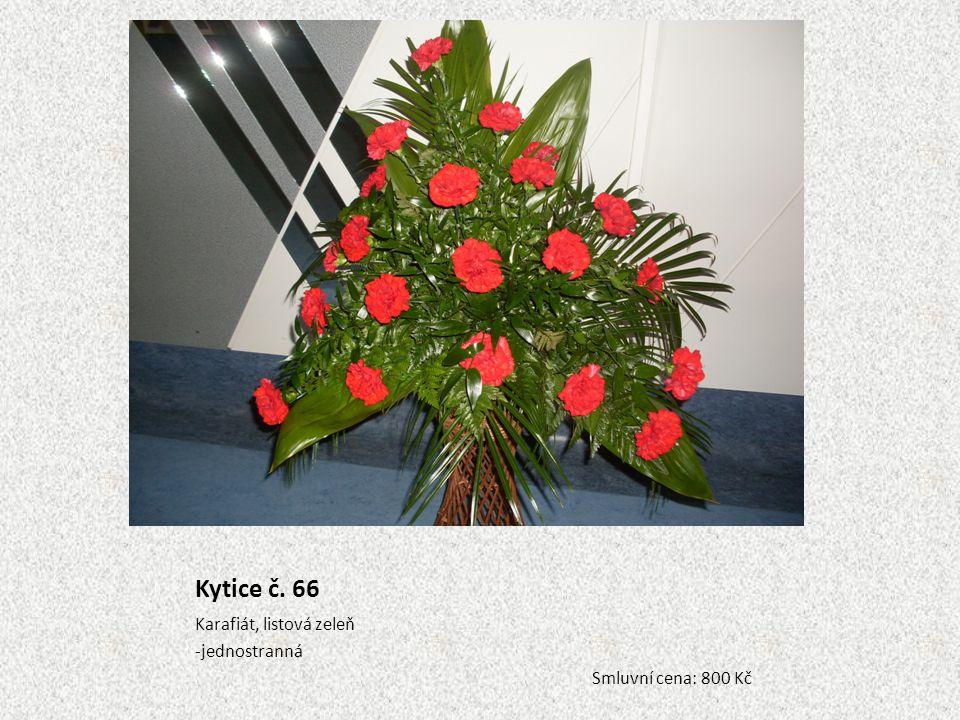 Kytice č. 66 Karafiát, listová zeleň -jednostranná Smluvní cena: 800 Kč