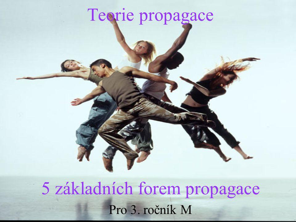 Teorie propagace 5 základních forem propagace Pro 3. ročník M