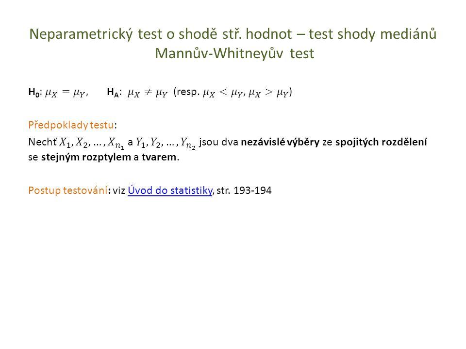 Test o shodě parametrů dvou binomických rozdělení