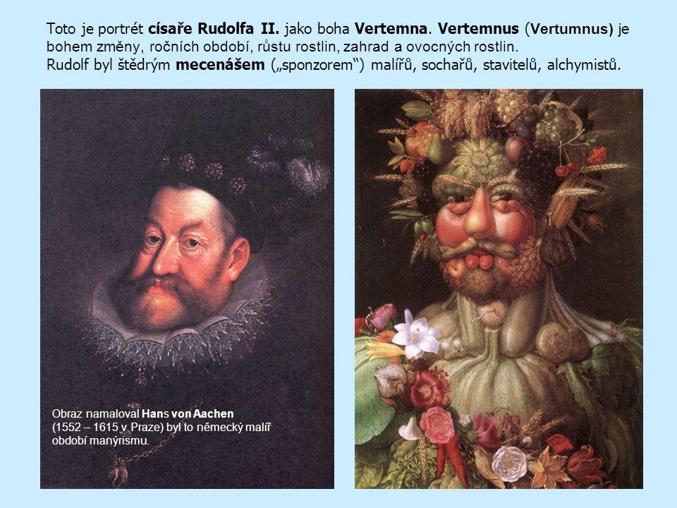 Klíčová slova Vertumnus Mecenáš Manýrismus Portrét Autoportrét