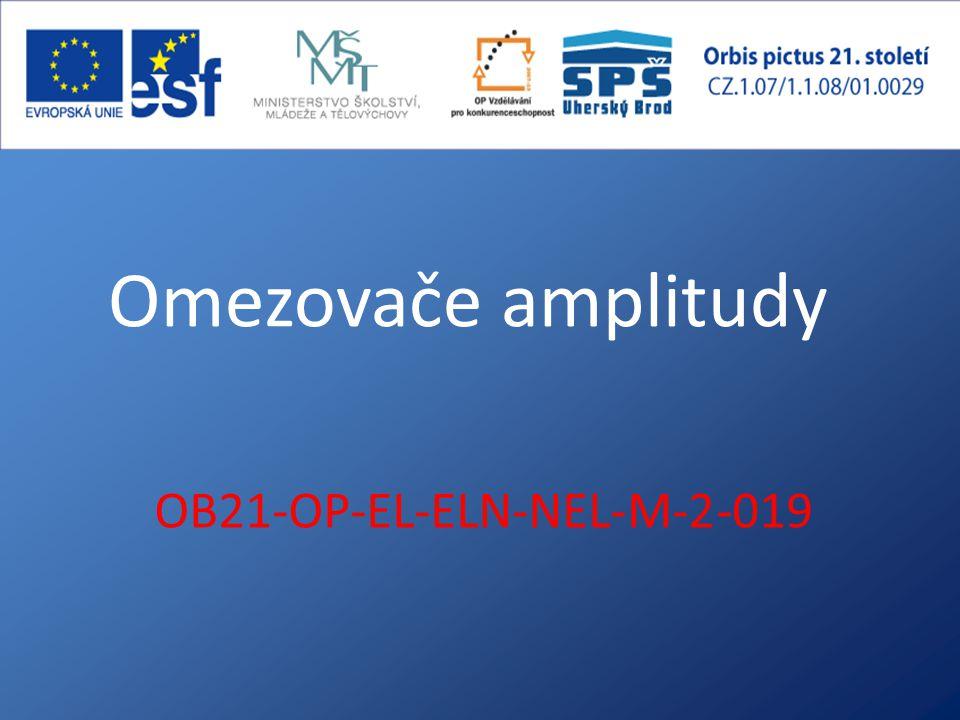 Omezovače amplitudy OB21-OP-EL-ELN-NEL-M-2-019