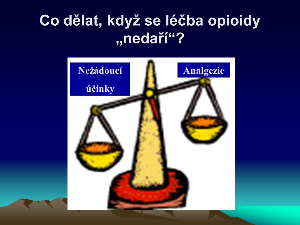 """Co dělat, když se léčba opioidy """"nedaří""""? Nežádoucí účinky Analgezie"""