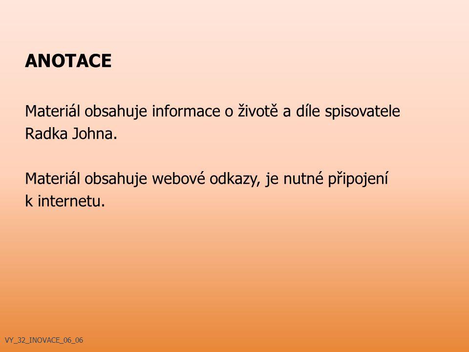 Memento (1990, r. Samuel Ivaška) ADAPTACE DĚL RADKA JOHNA VY_32_INOVACE_06_06