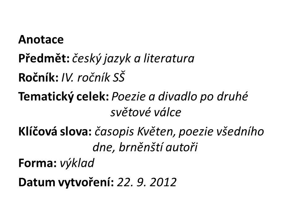 Nové literární skupiny II.