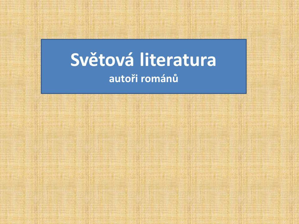 Světová literatura autoři románů