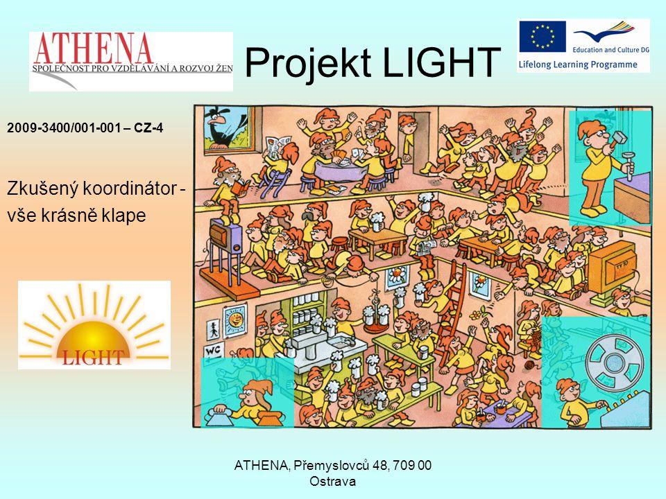 ATHENA, Přemyslovců 48, 709 00 Ostrava Projekt LIGHT 2009-3400/001-001 – CZ-4 Zkušený koordinátor - vše krásně klape