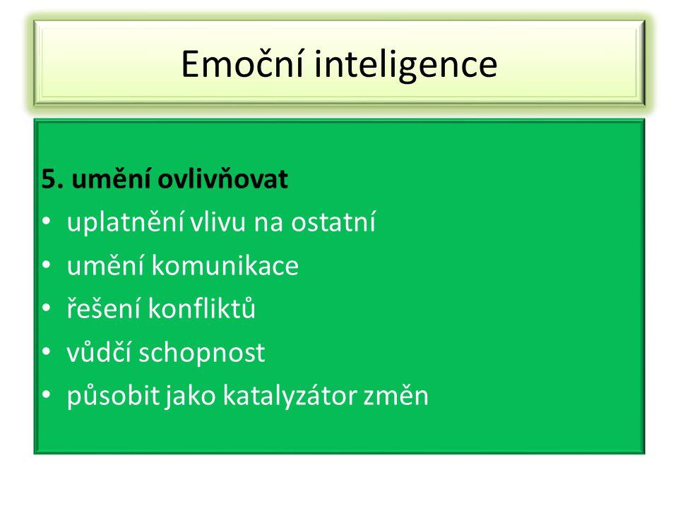 Emoční inteligence 6.