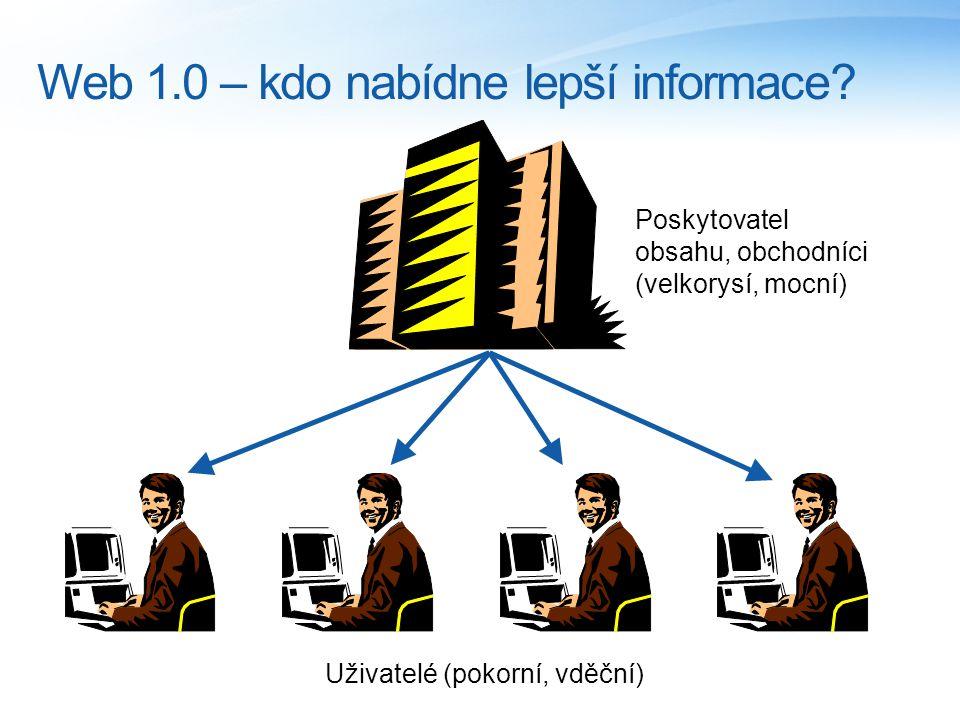 Web 1.0 – kdo nabídne lepší informace.
