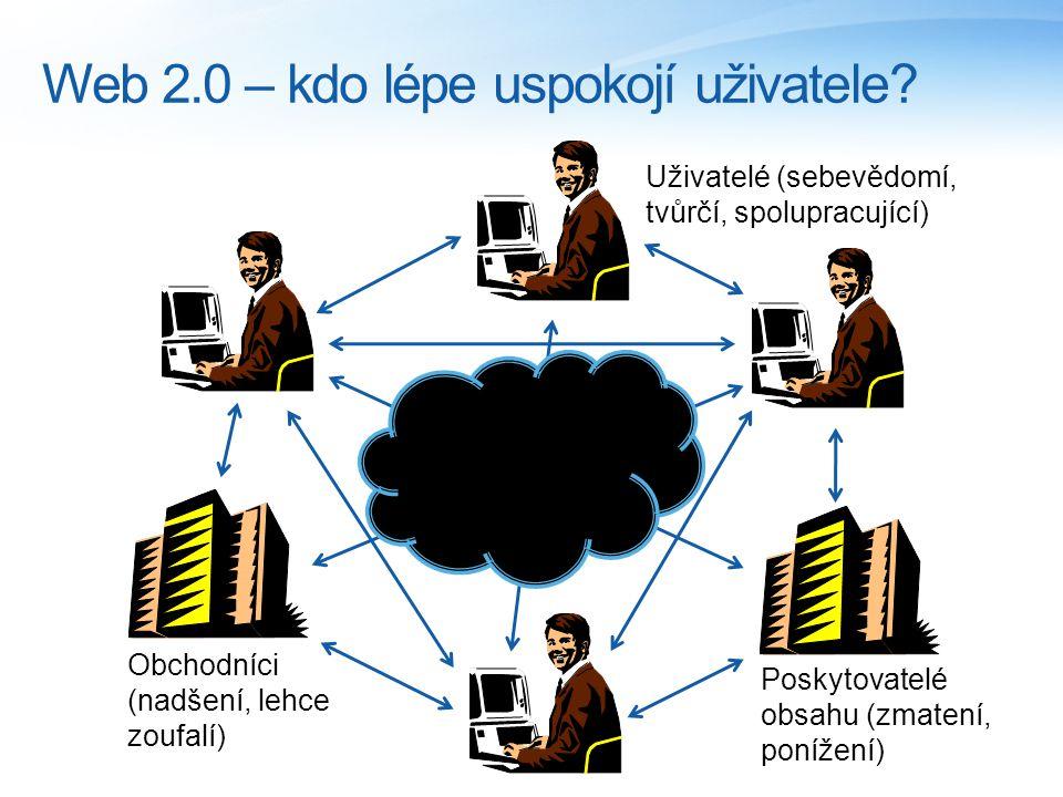 Web 2.0 – kdo lépe uspokojí uživatele.